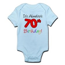 Abuelitos 70th Birthday Infant Bodysuit