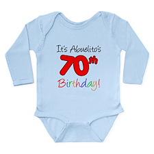 Abuelitos 70th Birthday Baby Suit
