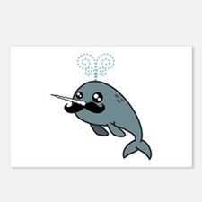 Narwhalstache Postcards (Package of 8)
