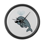 Narwhalstache Large Wall Clock