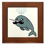 Narwhalstache Framed Tile