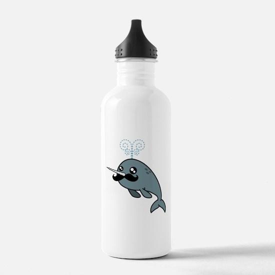 Narwhalstache Water Bottle