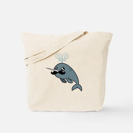 Narwhalstache Tote Bag