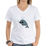 Narwhalstache Women's V-Neck T-Shirt