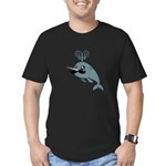 Narwhalstache Men's Fitted T-Shirt (dark)