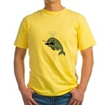 Narwhalstache Yellow T-Shirt