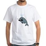 Narwhalstache White T-Shirt