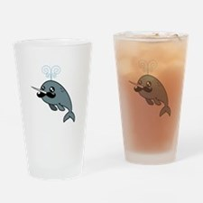 Narwhalstache Drinking Glass