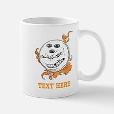 Bowling Cartoon with Text. Mug