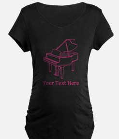 Pink Piano and Custom Text. T-Shirt