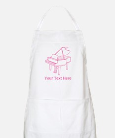Pink Piano and Custom Text. Apron