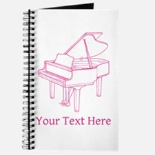 Pink Piano and Custom Text. Journal