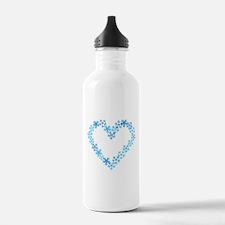Snowflake Heart Water Bottle