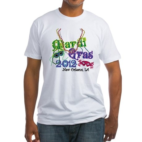 2012 Mardi Gras Fitted T-Shirt
