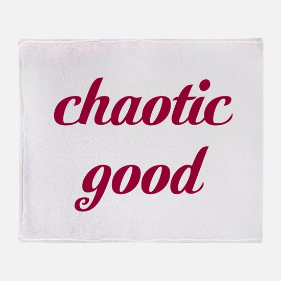 Chaotic Good Throw Blanket
