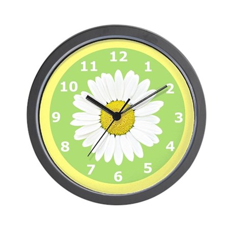 Daisy Wildflower Wall Clock