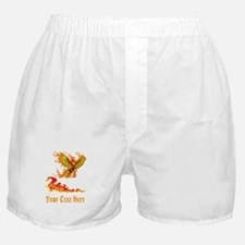 Phoenix and Custom Text. Boxer Shorts