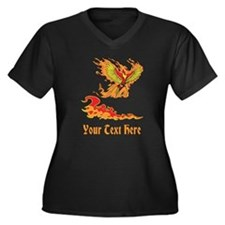Phoenix and Custom Text. Women's Plus Size V-Neck