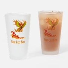 Phoenix and Custom Text. Drinking Glass