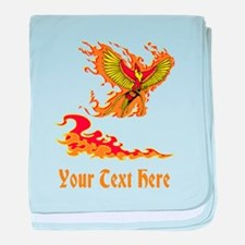 Phoenix and Custom Text. baby blanket