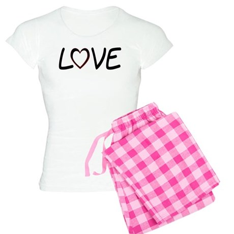 Heart Shaped Love Women's Light Pajamas