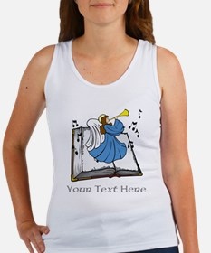 Angel and Book with Gray Text Women's Tank Top