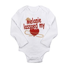 Melanie Lassoed My Heart Long Sleeve Infant Bodysu