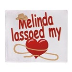 Melinda Lassoed My Heart Throw Blanket