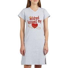 Mildred Lassoed My Heart Women's Nightshirt
