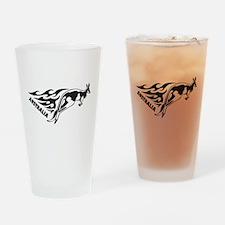 Australia Kangaroo Drinking Glass