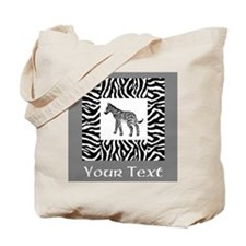 Zebra Design with Text. Tote Bag