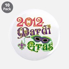"2012 Mardi Gras 3.5"" Button (10 pack)"