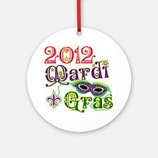 2012 Mardi Gras Ornament (Round)