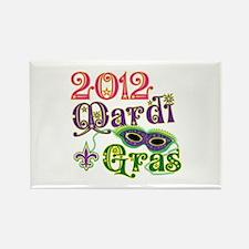 2012 Mardi Gras Rectangle Magnet (10 pack)
