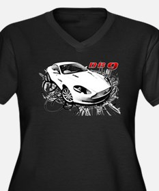 Aston Martin DB9 Women's Plus Size V-Neck Dark T-S