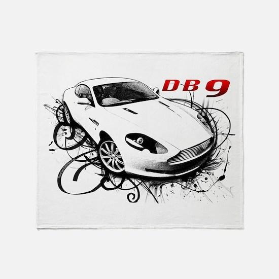 Aston Martin DB9 Throw Blanket