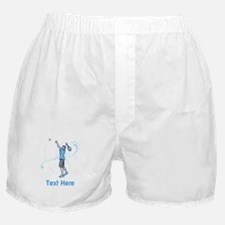 Tennis Serve, with Text. Boxer Shorts