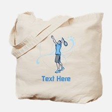 Tennis Serve, with Text. Tote Bag