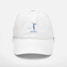 Tennis Serve, with Text. Baseball Baseball Cap
