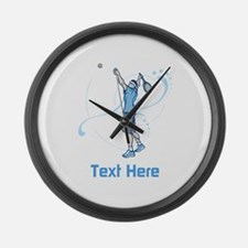 Tennis Serve, with Text. Large Wall Clock