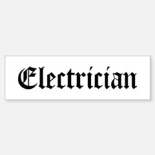 Electrician Bumper Car Car Sticker