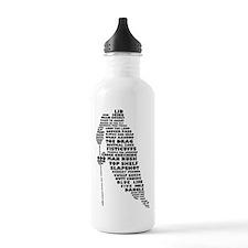 Language of Hockey (skater) Water Bottle