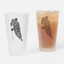 Language of Hockey (skater) Drinking Glass