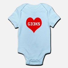 Big Heart G33ks Infant Bodysuit