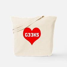Big Heart G33ks Tote Bag