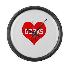 Big Heart G33ks Large Wall Clock