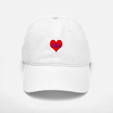 Big Heart Love USA America Baseball Baseball Cap