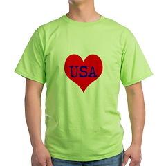 Big Heart Love USA America T-Shirt