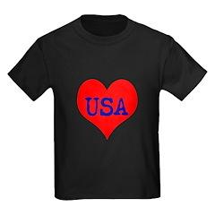 Big Heart Love USA America T