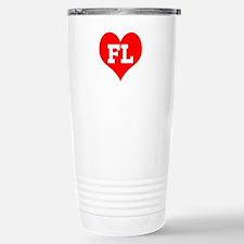 Big Heart Florida Stainless Steel Travel Mug